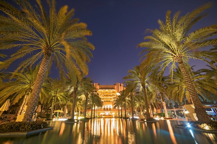 Al Bustan Palace Ritz Carlton Hotel At Blue Hour - Excellence along the coast of Al Bustan in Oman :)  http://macmatt78.wixsite.com/mattmacdonaldphoto