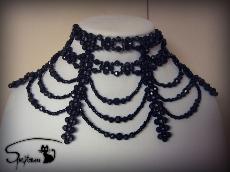 Beaded gothic choker Original design by Spektrum