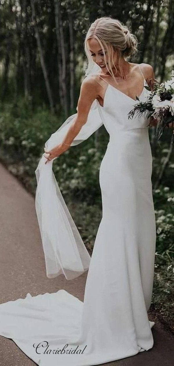 Description 1 Material Jersey Elastic Satin Pongee 2 Shipping Time 20 25 Days 3 All Dres In 2020 Wedding Dresses Simple After Wedding Dress Simple Wedding Dress Beach,Cheap Evening Dresses For Weddings