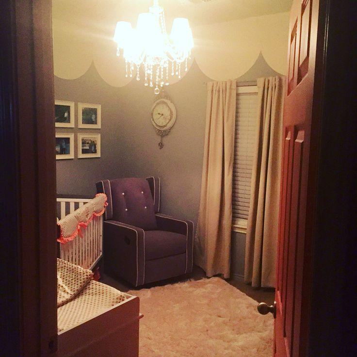 ::: Carousel  Nursery :::  • Painted Tent Ceiling / Mate Cream & High Gloss w/ Glitter Additive from Lowe's Department Store  • Swivel / Rocking / Recliner - Walmart.com  • Savannah Baby Furniture - BabiesRUs.com  • Bedding - CadenLane.com