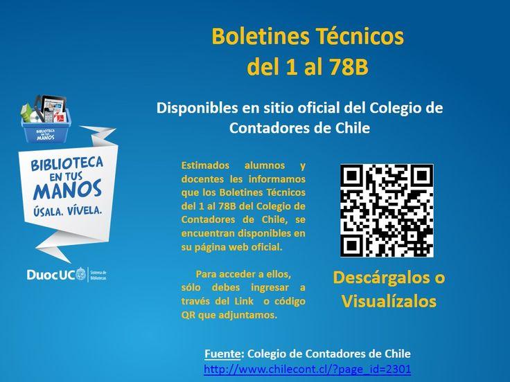 Boletines del Colegio de Contadores de Chile