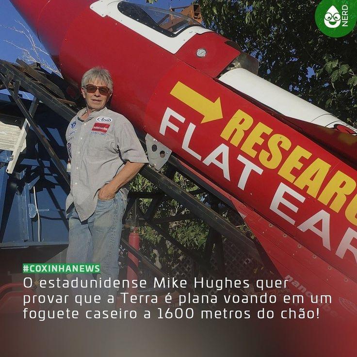 #CoxinhaNews Quando questionado sobre seu foguete Hughes respondeu que Eu não acredito na ciência. Eu sei algumas coisas sobre aerodinâmica fluidodinâmica sobre como as coisas se movem pelo ar sobre um certo tipo de nariz de foguete e sobre impulso. Mas isso não é ciência é só uma fórmula. Não há diferença entre ficção científica e ciência.  #TimelineAcessivel #PraCegoVer  Imagem do terraplanista Mike Hughes e seu foguete caseiro com a legenda: O estadunidense Mike Hughes quer provar que a…