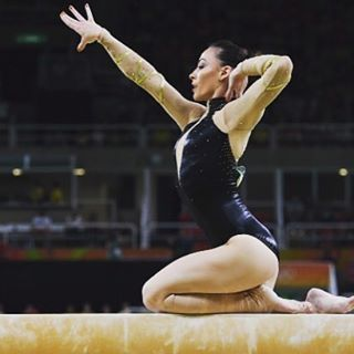 Representing Romania on beam finals at Rio Olympics @catalina_ponor will always be the queen of the beam! stay strong keep fighting for Romania in the future! #gymnastics #rio2016 #romania #olympics #artisticgymnastics #queen #rio