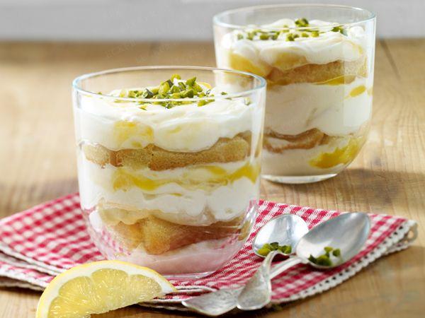 Dessert im Glas - hübsch serviert! - lemon-tiramisu  Rezept