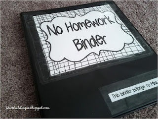 Document students who don't have homework and their excuse--  Maestra Bilingüe: No-Homework Binder