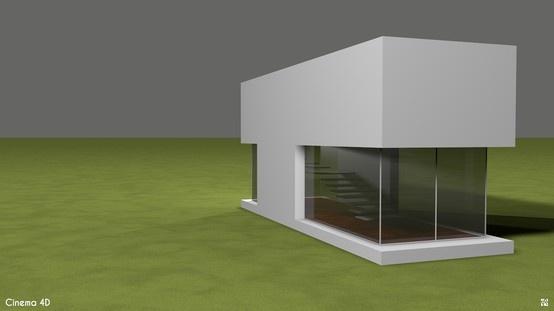 Cinema 4D - Modern style house.