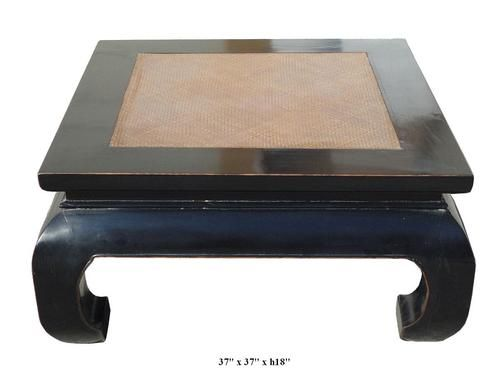 You Are Looking Chinese Black Lacquer Rattan Top Square Coffee Table This Is A Classic Oriental