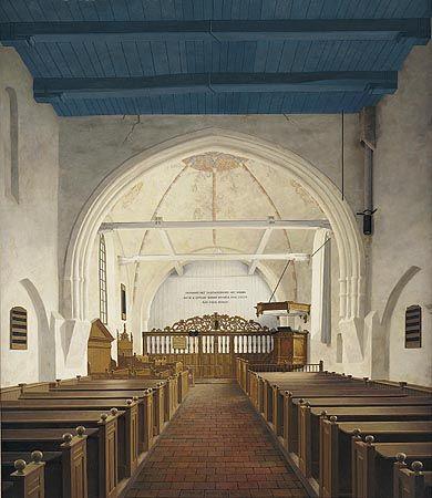 De Andreaskerk in Westeremden ( Voor de restauratie) 1979 Henk Helmantel.