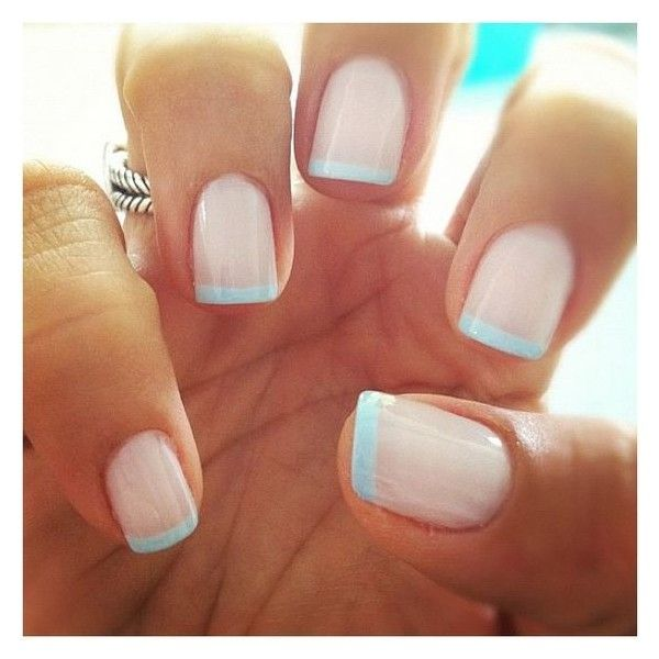 22 Awesome French Manicure Designs ❤ liked on Polyvore featuring beauty products, nail care, nail treatments and nails