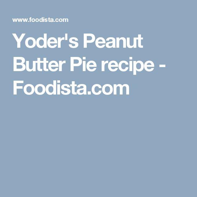 Yoder's Peanut Butter Pie recipe - Foodista.com