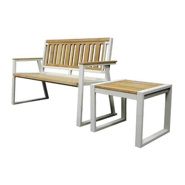You Ll Love The California Room Chino Teak And Iron Park Bench At Allmodern With Great Deals On Modern Outdoor Teak Patio Furniture Furniture California Room
