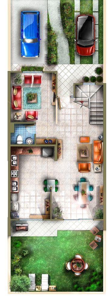 Plano 1 Casa Tres Niveles