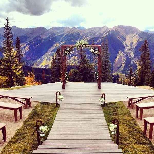 The wedding deck the little nell in aspen colorado i for Beautiful places for a wedding