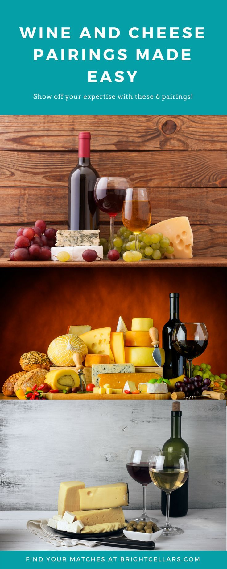 Follow these simple guidelines from Bright Cellars for a delicious and eye-catching pairing experience. #wineglasswriter