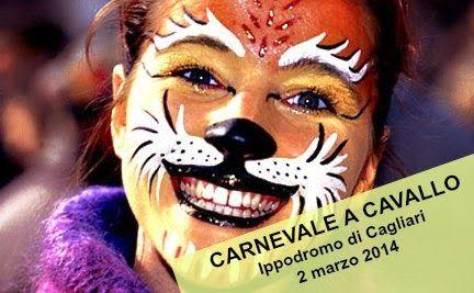 La Societa Ippica di Cagliari organizza il 2 marzo 2014 il Carnevale a cavallo.  Si inizia con il concorso sociale di salto ad ostacoli e nel pomeriggio battesimo della sella e zeppolata.  #Carnevale #FesteSardegna