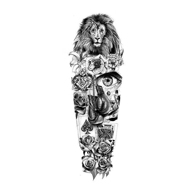 lion full sleeve design idea