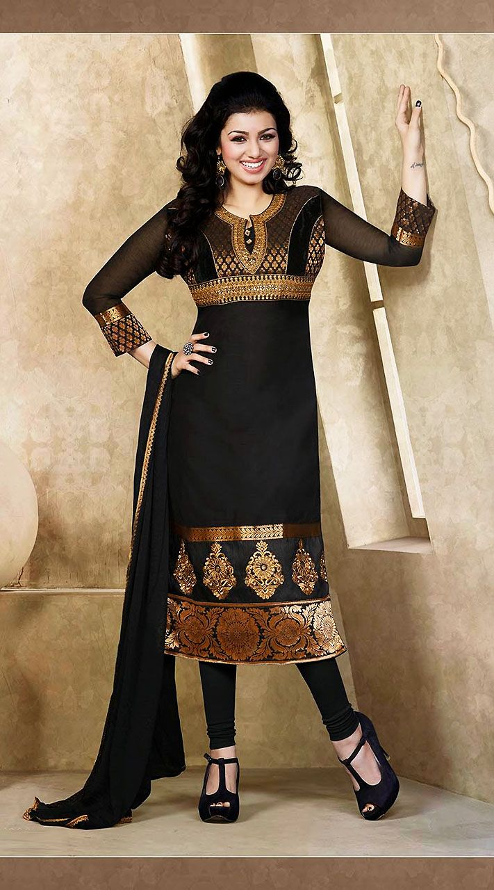 Black Ayesha Takia Designer #Salwar Kameez