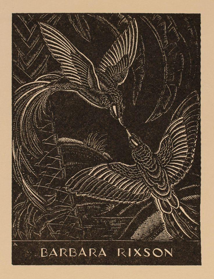 A. Flint for Barbara Rixson, Art-exlibris.net