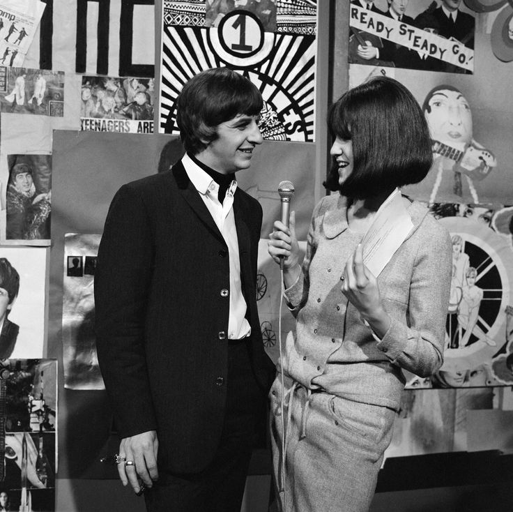 "Ringo Starr interviewed by Cathy McGowan on ""Ready, Steady, Go!"" 1964. ©mirrorpix/Mirrorpix/Corbis"