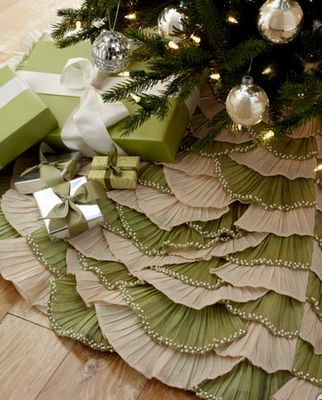 Christmas tree skirt - I haven't seen it done in layers like this.  I could use remnants to create it.