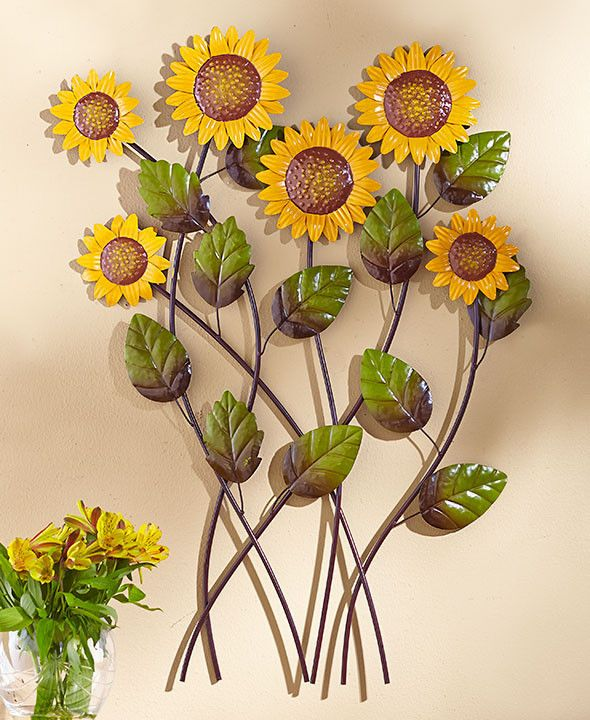 Sunflower Wall Sculpture \u2013 Holt Bros Mercantile Sunflower/ladybug