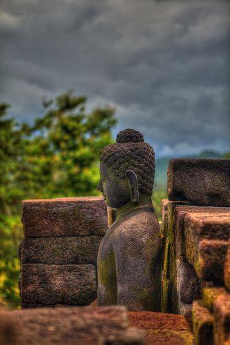 Borobudur, an 8th-century Mahayana Buddhist monument near Magelang, Central Java, Indonesia.