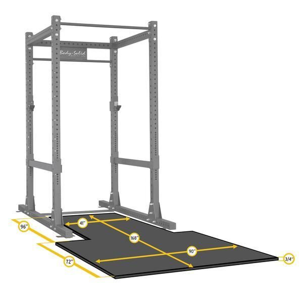SPR Power Rack Floor Mat Platform - SPRPLATFORM    Body-Solid's SPRPLATFORM Floor Mat for the SPR1000 Power Rack protects your floor from damage and keeps your bars and plates looking new even through the toughest of workouts.