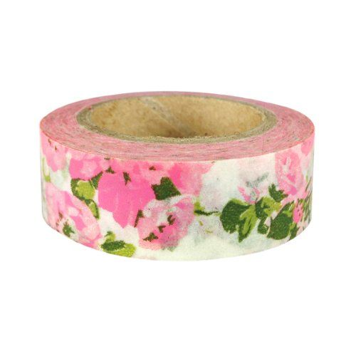 cool AllyDrew Floral & Nature Japanese Washi Masking Tape - Pink Flower Garden