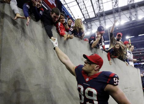 Fearsome 7-year-old football player captures J.J. Watt's heart - Yahoo