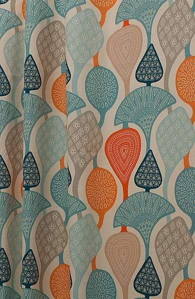 Cecilia Orange Made to Measure Curtains, from £111 per pair or £14 per metre.