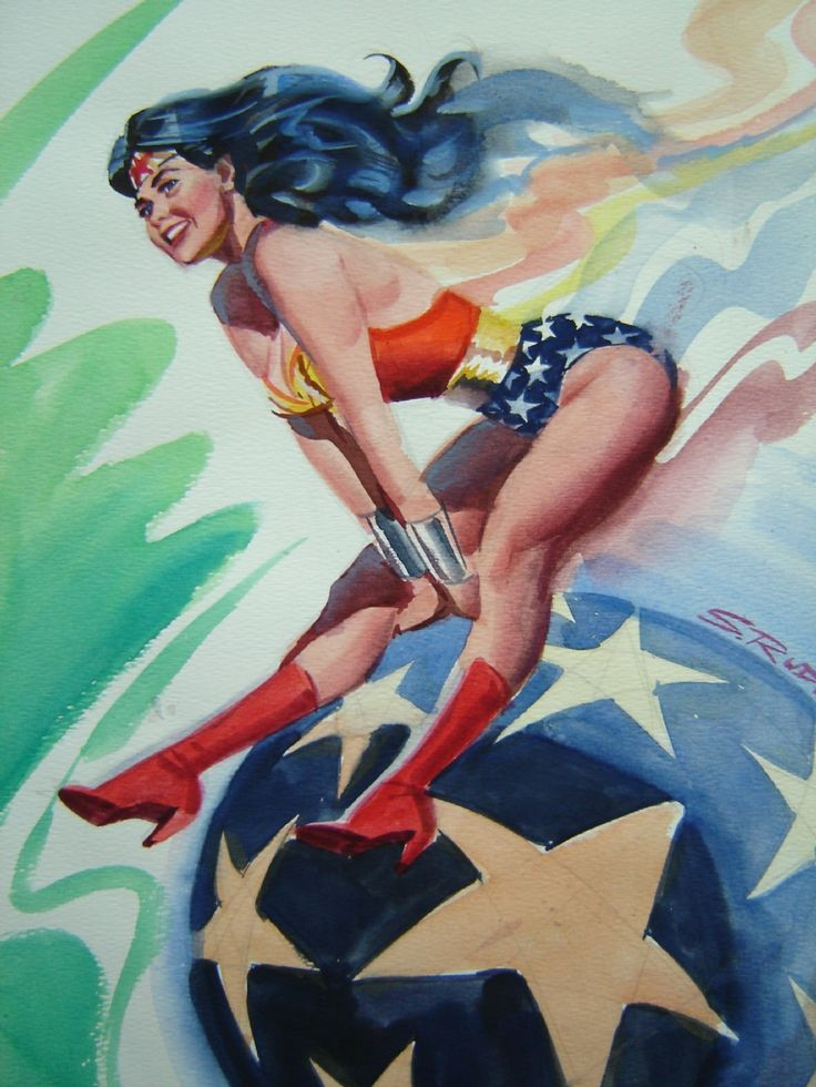 Wonder Woman painted commission by Steve Rude Comic Art