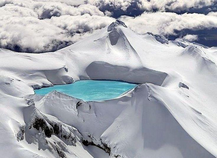 Кратерное озеро, вулкан Руапеху, Новая Зеландия