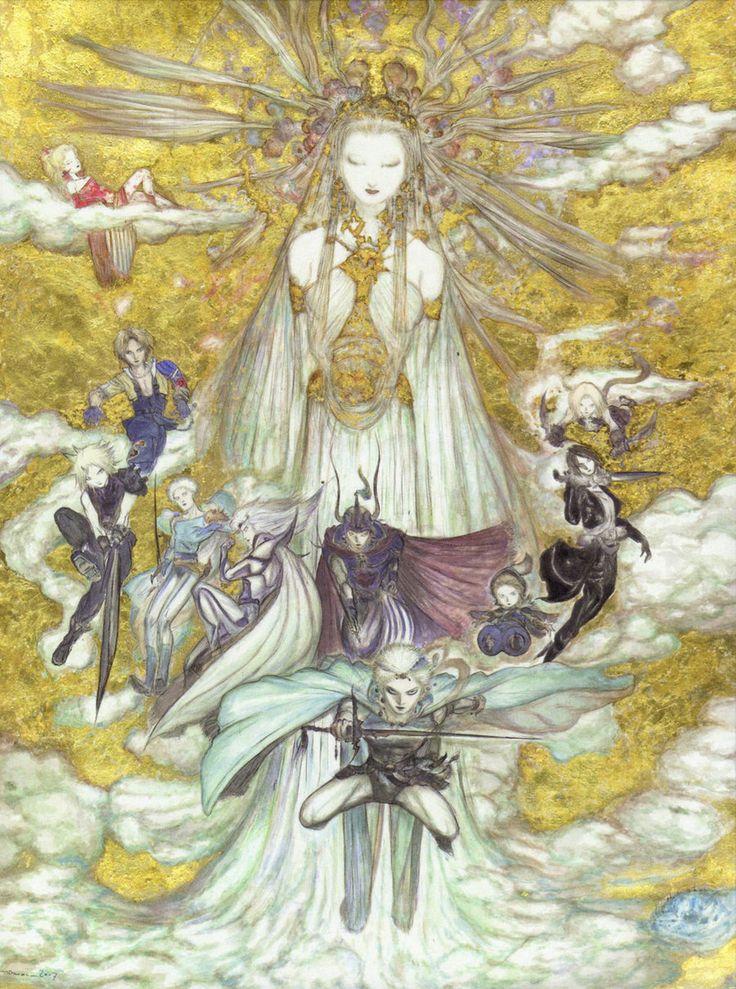artwork for Final Fantasy: Dissidia illustrated by Yoshitaka Amano