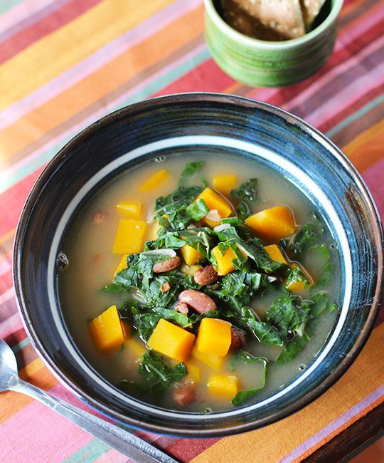 ... swiss chard bean bacon and butternut squash soup with swiss chard