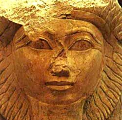 Queen Hatshepsut, the woman who was king, seriously she ruled as a man, she set the mold for ruling women, also she was a great lover of architecture she is supposedly responsible for the majority of Egyptian sculptures and buildings, a lover of art, and she was almost completely erased from history