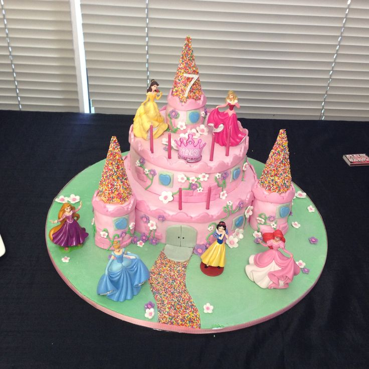 Little Miss 7yo birthday cake.