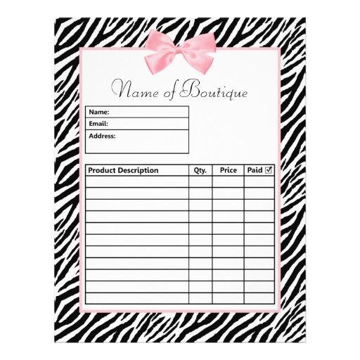 Online shop order form