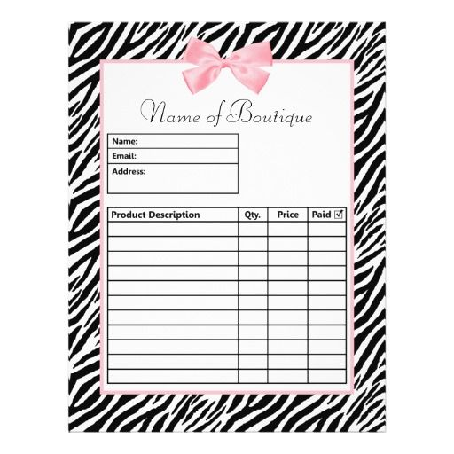 1000 images about Order Forms – Order Form Templates