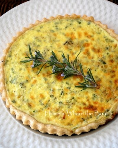 Ina Garten's Goat Cheese Tart - I make it all the time.