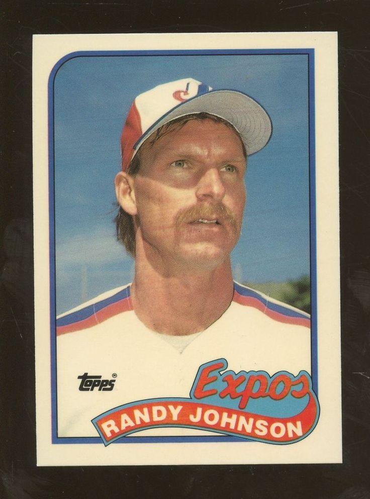 1989 topps tiffany 647 randy johnson montreal expos rc