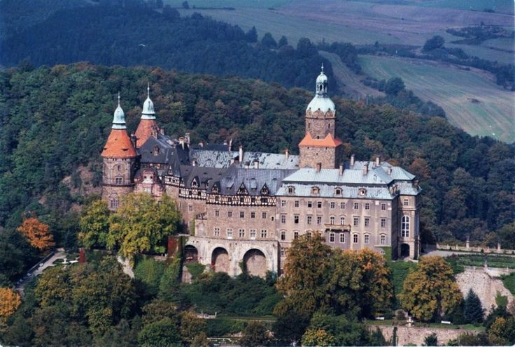 Very cool! Książ Castle, Wałbrzych, Lower Silesia, #Poland. Originally, built in 1288-1292, but this one dates to the 1500s.