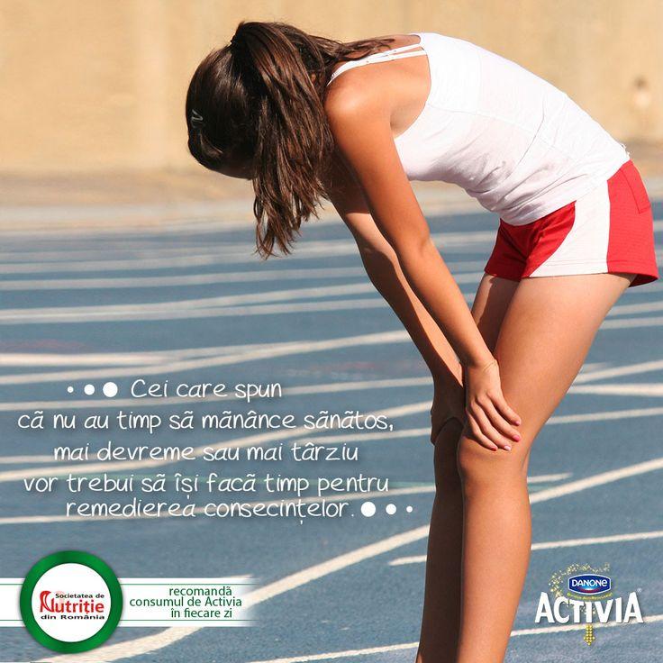 Cei care spun că nu au timp să mănânce sănătos, mai devreme sau mai târziu vor trebui să îşi facă timp pentru remedierea consecinţelor.  #ActiveazaStareaDeBine #ProvocareaActivia  www.activia.ro/ProvocareaActivia/blog
