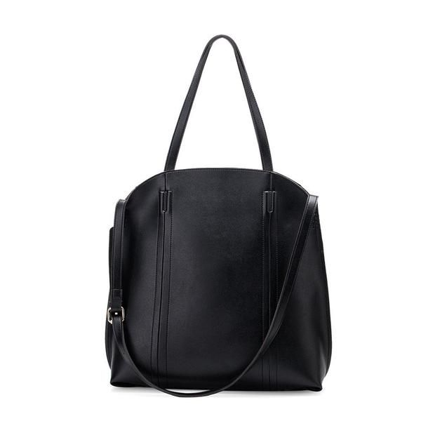 Melie Bianco | Genevie | Vegan Leather Shoulder Bag | Black | Vegan Handbag | Vegan Purse | Vegan Fashion | Cruelty Free Handbags | Shop KIND | KIND Style