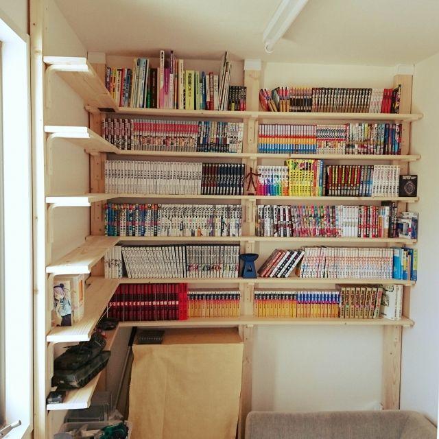 overdrive.m.tさんの、本棚,DIY,ディアウォール,壁/天井,のお部屋写真