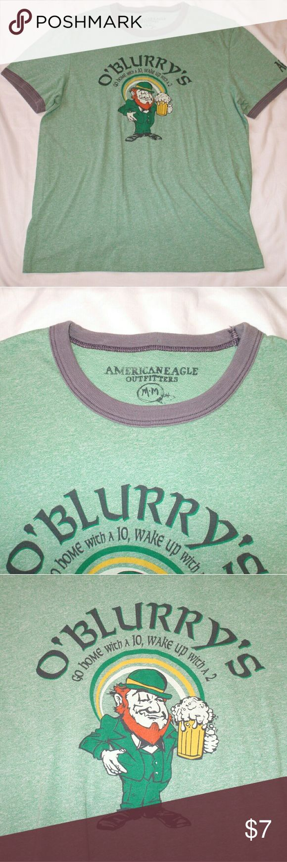 American Eagle St. Patrick's Day Novelty T Shirt Short sleeve - Crew neck - Soft cotten blend - Worn one time - Smoking home - I will ship by the next business day to ensure St. Patty's Day delivery!!! American Eagle Outfitters Shirts Tees - Short Sleeve