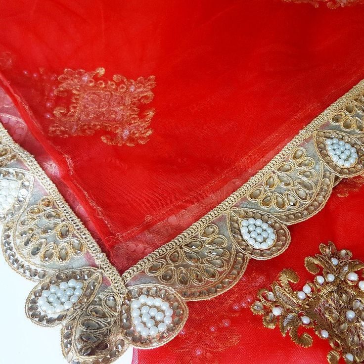 Stunning Red Indian Bridal Dupatta - just listed in the shop!