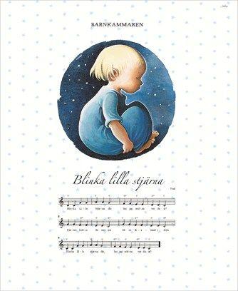Blinka lilla stjärna (Affisch) - Barnkammaren