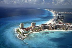 Cancun zona hotelera, Cancún México. Hotels Cancun