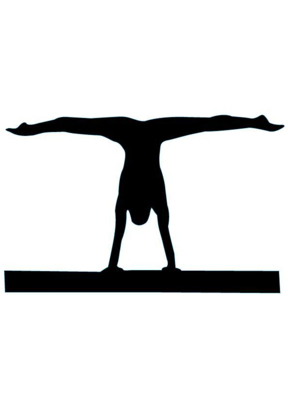Gymnastics Silhouette - 6 : Custom Wall Decals, Wall Decal Art, and Wall Decal Murals | WallMonkeys.com