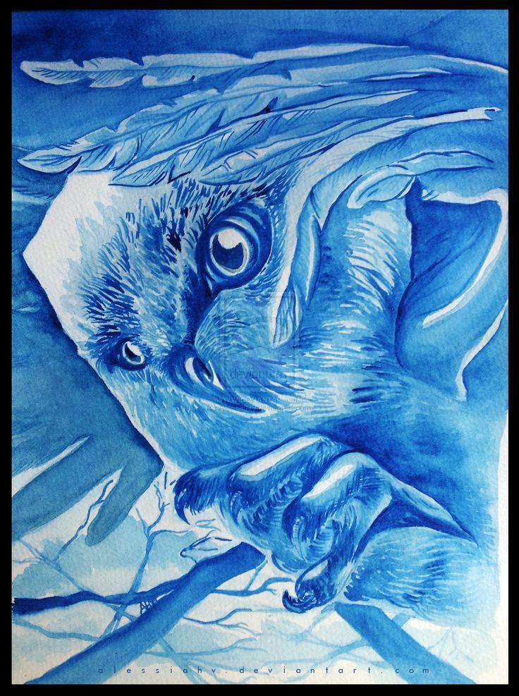 The Blue Owl by AlessiaHV.deviantart.com on @DeviantArt